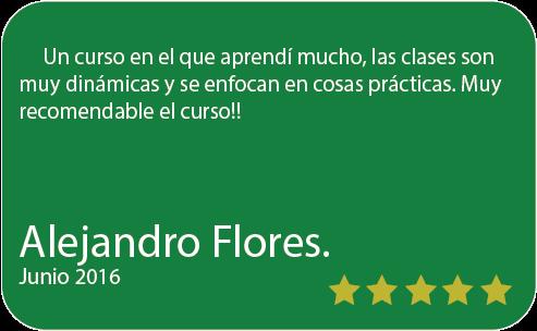 Alejandro Flores Testimonio